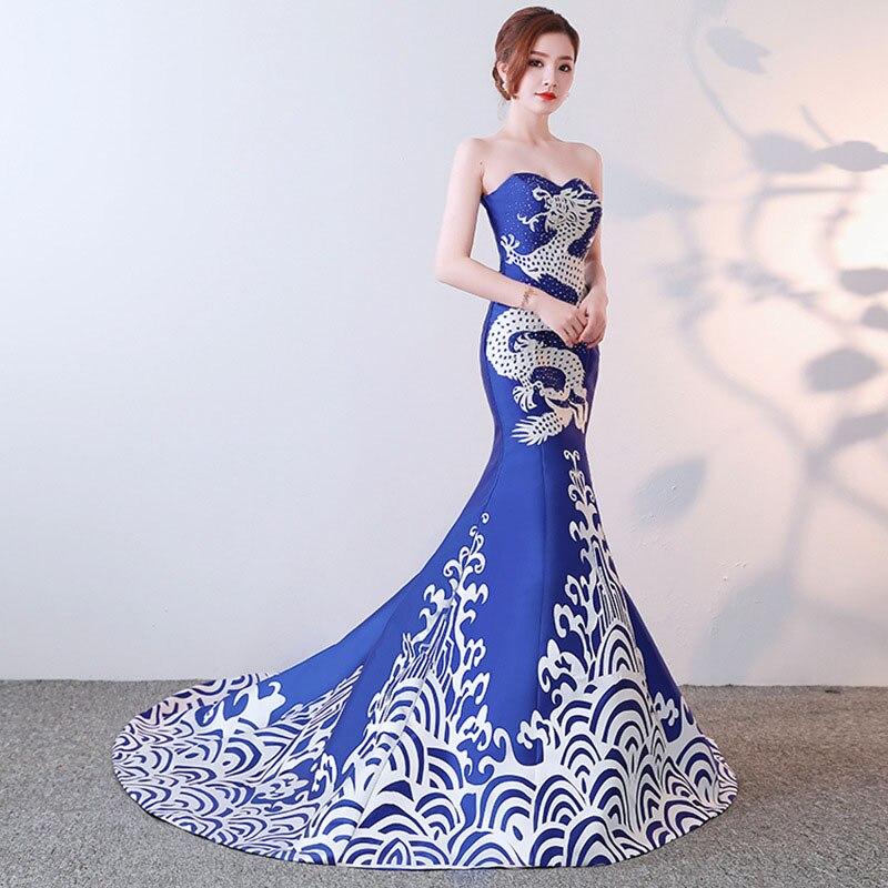 Chinês Sereia Vestidos Vestido De Festa