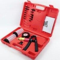 1 Conjunto de Multi-funcional Auto Kit Testador De Pressão de Mão Bomba De Vácuo Sangrador do Freio Conjunto de Ferramentas com Adaptadores