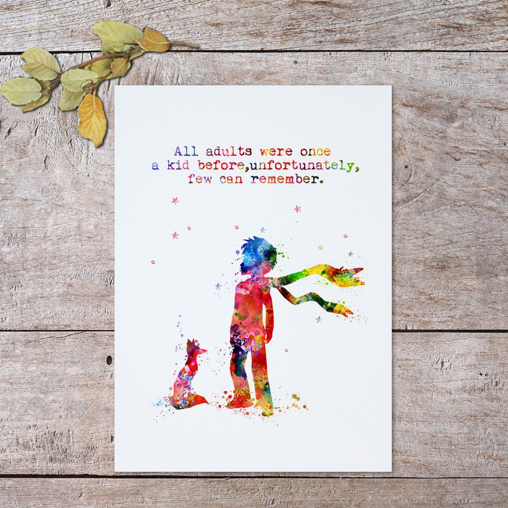Divar İncəsənət Çapından əvvəl Bütün Yetkinlər Bir Kid - Ev dekoru - Fotoqrafiya 4