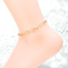 Серебро/золото/розовое золото цвет нержавеющая сталь 316L мода форме сердца цепи ножной браслет для женщин