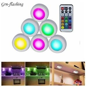 13 видов цветов Светодиодная подсветка под шкаф с дистанционным управлением с регулируемой яркостью ночник для дома, кухни, телевизора, шкаф...