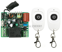 AC220V RF Wireless Mini Switch Teleswitch Relay Receiver Remote Controllers For Light Switch With White Waterproof