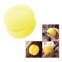 6 шт. модные шарик из мягкой губки стайлер для волос уход за волосами Плойка для завивки инструмент для леди