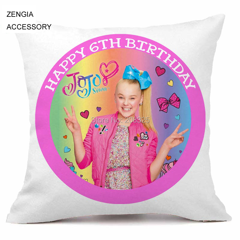 f5048af121 ZENGIA JoJo Siwa Cushion Cover 45x45 Lovely Girl Pillow Case Polyester  Pillowcase Home Sofa Decorative Throw Pillow Cover Couch