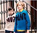 Roupas menino das crianças cuhk das crianças camisola camisola de malha carta de Conjunto de cabeça de novo fundo de 2016 invernos do outono brasão 6-18 anos velho
