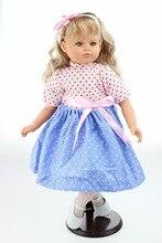 Linda Muñeca Reborn de 55 cm con vestido azul y rosa