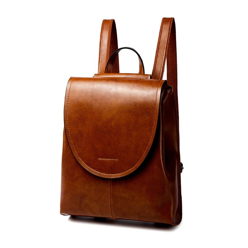 25 x 10 x 29cm Women's Vintage Genuine Leather Backpack School Backpacks Travel Rucksack Bag