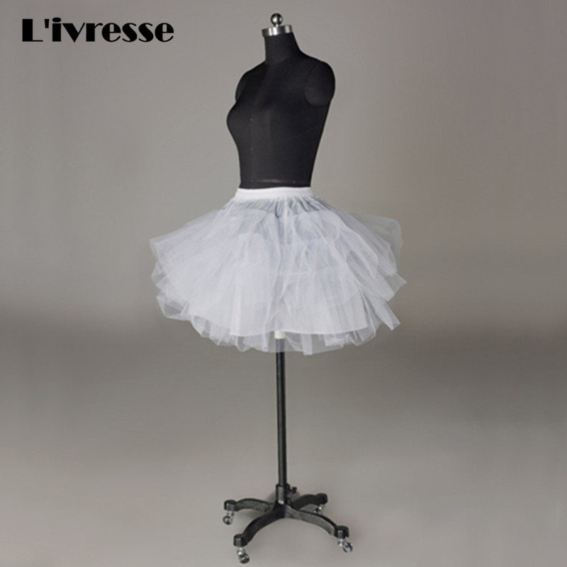 White black tulle girls petticoat slip with no hoop short for Tulle petticoat for wedding dress