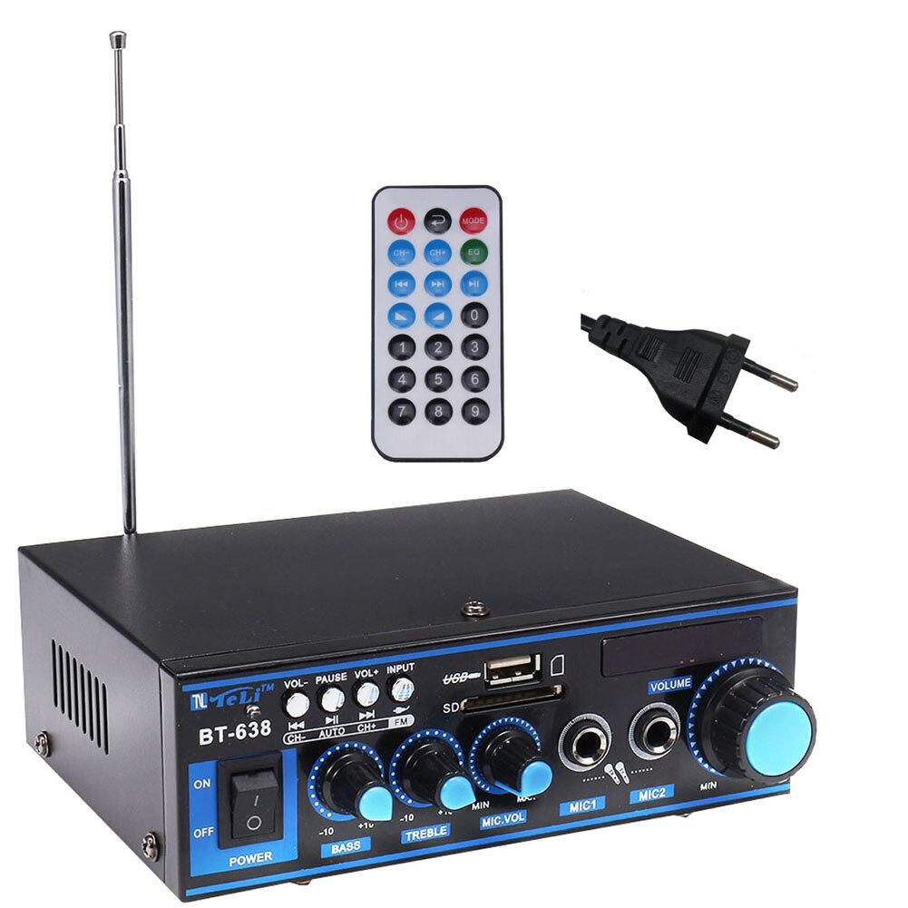 Усилитель мощности радио стерео Bluetooth USB домашняя музыка HIFI встроенный Автомобильный Аудио Цифровой с пультом дистанционного управления FM