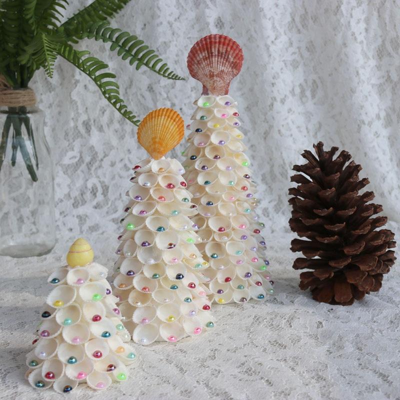 Ücretsiz Kargo (1 takım / grup) Inci Ile Cockle Noel Ağacı Doğal - Tatiller ve Partiler Için - Fotoğraf 1