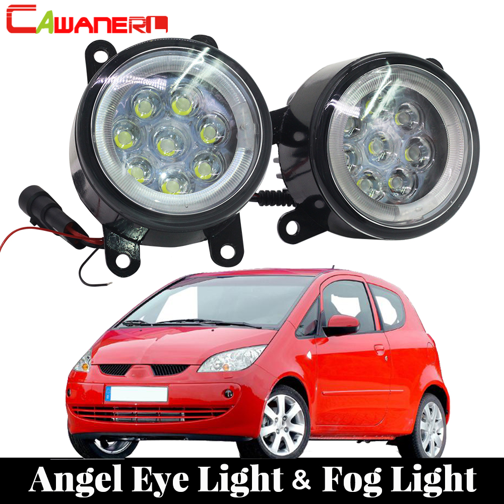 Cawanerl For 2004-2012 Mitsubishi Colt Hatchback 2 Pieces Car Styling LED Fog Light Angel Eye Daytime Running Light Lamp DRL 12V new dimming style relay waterproof 12v led car light drl daytime running lights with fog lamp hole for mitsubishi asx 2013 2014