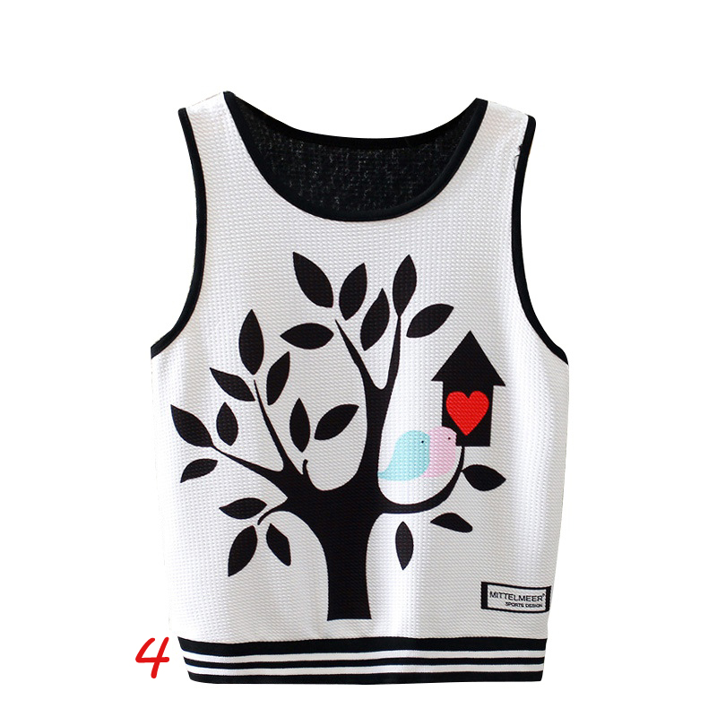 Sexy Women Boho Tank Tops Bustier Print Vest Crop Top Shirt Bralette Blouse Cami New H7