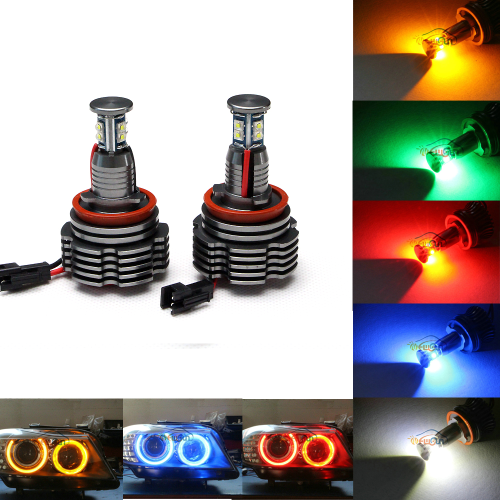 2016 Newest Car Accessories 40w H8 Led Marker Angel Eyes E60 E63 E70 E71 E82 E84 E87 E89 E90 E91 E92 E93
