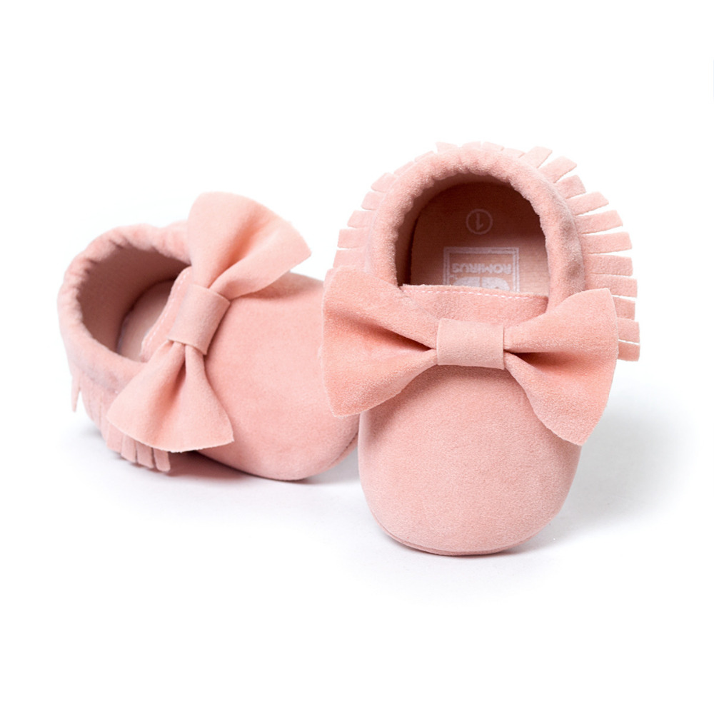 2018 New Arrival 29 Candy Colors Butterfly-knot Fashion Baby Moccasins Handmade Unique Suede Boots Soft Prewalker Shoes