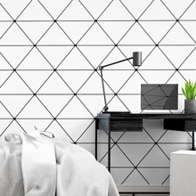 53cm×10m Modern Minimalistic Geometric Triangle Living Room Bedroom Wallpaper Nordic Style Background Clothing Store Wall Paper