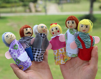 fairy tales family series finger even toy educational baby doll story telling toys puppets ,6pcs/lot