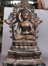 29 «Винтаж Тибет Бронзовый Свинка Дракон Phoneix Шакьямуни Будда шакьямуни Статуя