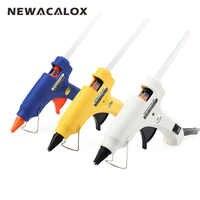 NEWACALOX 20W EU/US Mini pistolet à colle thermofusible bricolage Thermo électrique Silicone adhésif pistolet chaleur température outil 20pc 7mm bâton de colle