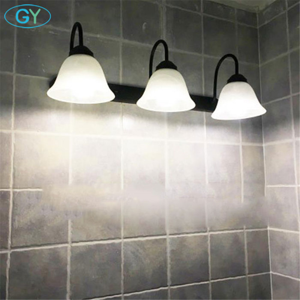 Modern Europe black mirror light LED bathroom toilet dressing room ...
