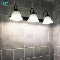 AC110V 220V 240V vintage 3pcs E27 LED bulbs front mirror light modern bathroom vanity wall mounted LED lighting fixture