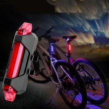 1 pcs Bike Bicycle LED Light USB Style Rechargeable Portable Taillight Super Bright Safety Warning Cycling Accessories