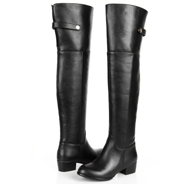 Aliexpress.com : Buy Genuine Leather Women Winter Long Boots Over ...