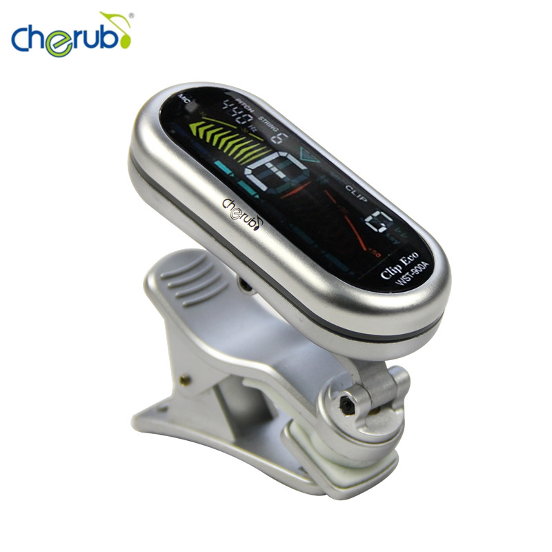 все цены на  Cherub WST-900A Clip-on Tuner with Chromatic Guitar Bass Violin Ukulele Fast Tuning Color LCD Display Stringed Instruments Parts  онлайн