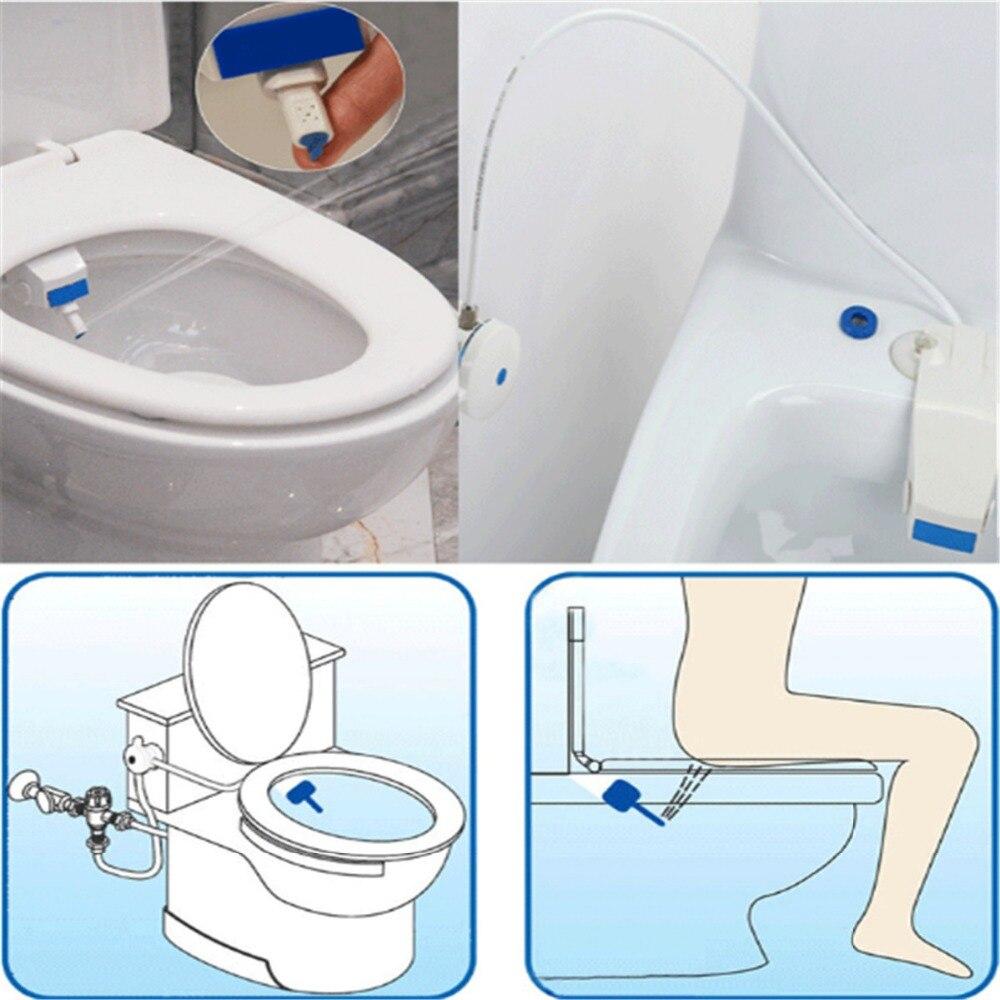 Abs White Bathroom Smart Toilet Bidet Non Electric Washlet Sprayer