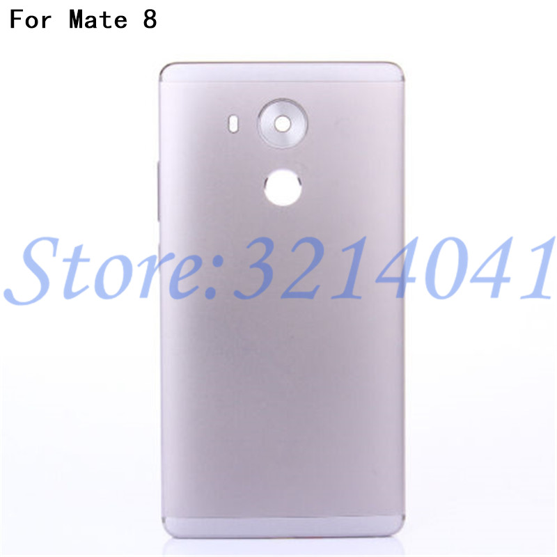 100% Original Metal Rear Housing Cover For Huawei Mate 8 Back Door Battery Case Replacement With Side Buttons+Camera Lens