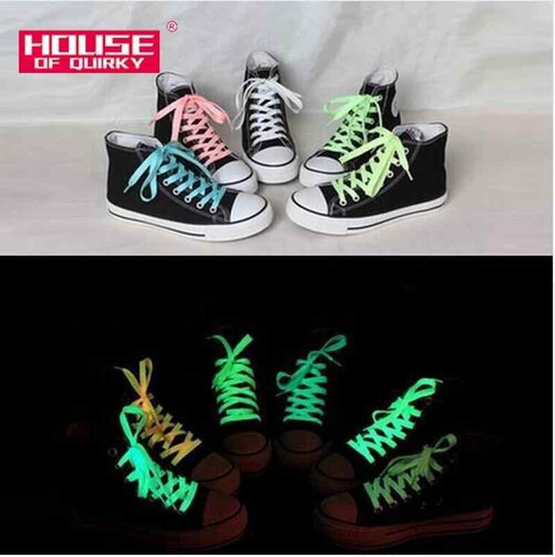 1 คู่ 120 ซม. กีฬาส่องสว่างอุปกรณ์เสริมเชือกผูกรองเท้าเรืองแสงใน Dark ปรับปรุงความสามารถในการจัดการของขวัญเด็กรองเท้าส่องสว่าง