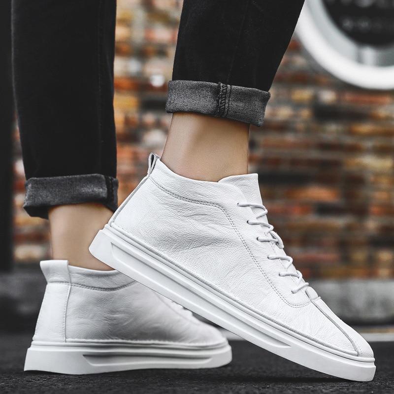 Chaussures Top Blanches Haute blanc Joker Nouvelle Printemps Vulcaniser Yasilaiya De Loisirs Cuir Marée Automne Coréenne Hommes En 2019 Britannique Noir nBqZIxRq