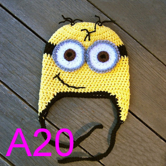 10pcslot Adultteenager Minion Hat Crochet Hat Of The Lovable