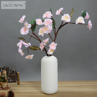 Artificial Flower Cherry Blossom Vivid Fake Sakura Flores Real Touch Latex Petals Handmade For Wedding Party