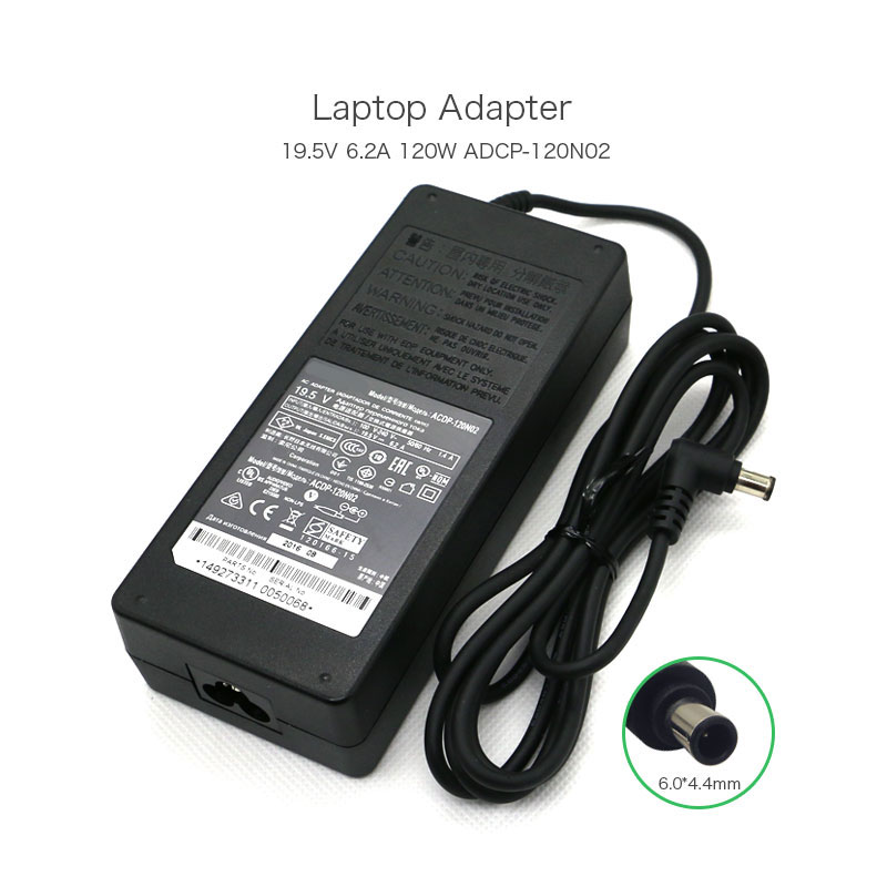 Original 120W 19.5V 6.2A ACDP-120N02 ACDP-120N01 Laptop AC Adapter for