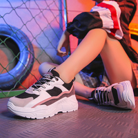 2019 Women Shoes Tenis New Chunky Sneakers For Women Vulcanize Shoes Casual Fashion Dad Platform Sneakers Basket Femme Krasovki