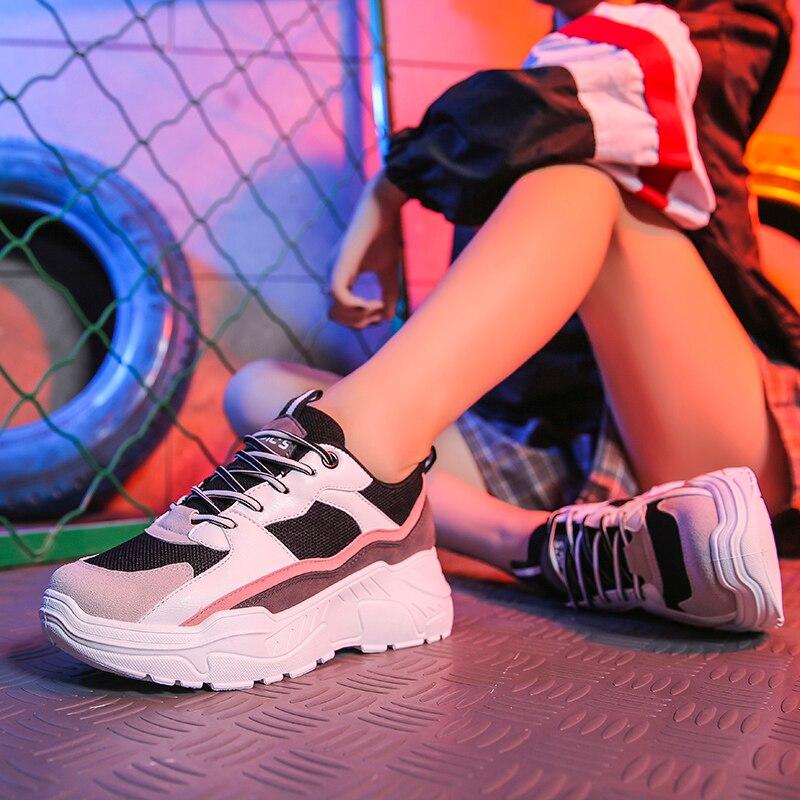 2019 Women Shoes Tenis New Chunky Sneakers For Women Vulcanize Shoes Casual Fashion Dad Platform Sneakers Basket Femme Krasovki