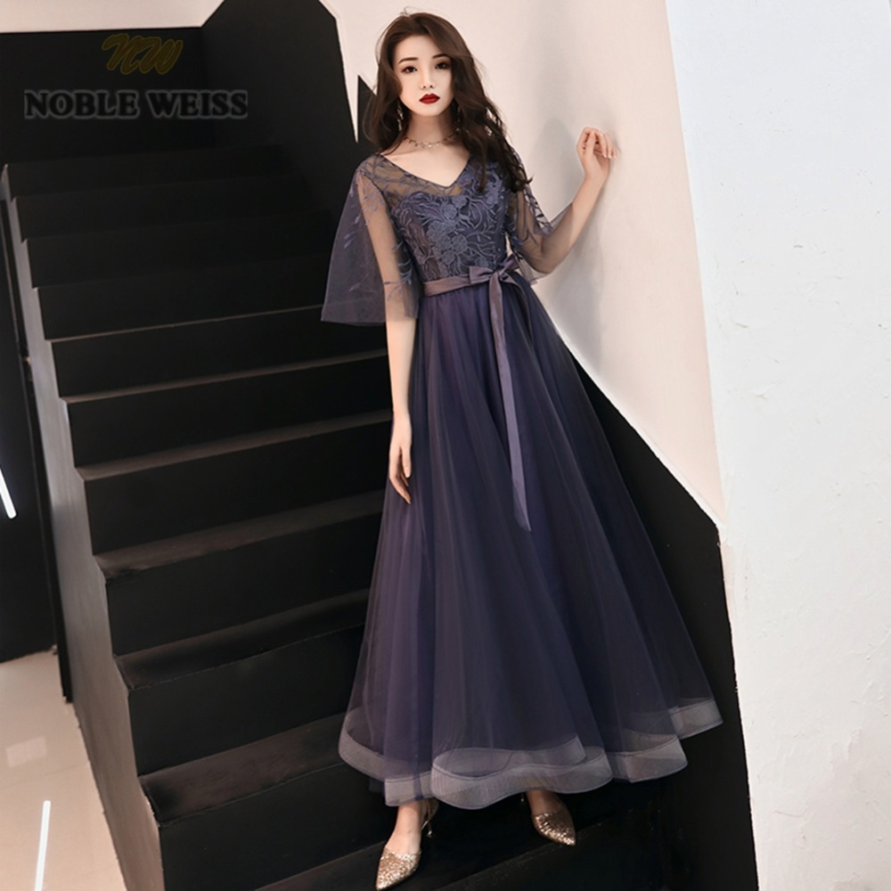 prom     dresses   v-neck tulle a-line   prom     dress   sexy see through back lace long   prom     dresses   with tulle sleeves party   dress