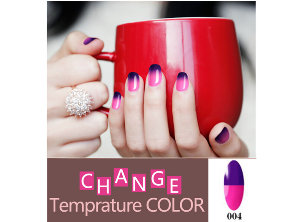 Mood Changing Temperature Gel font b Nail b font Polish Long Lasting Soak Off Led UV