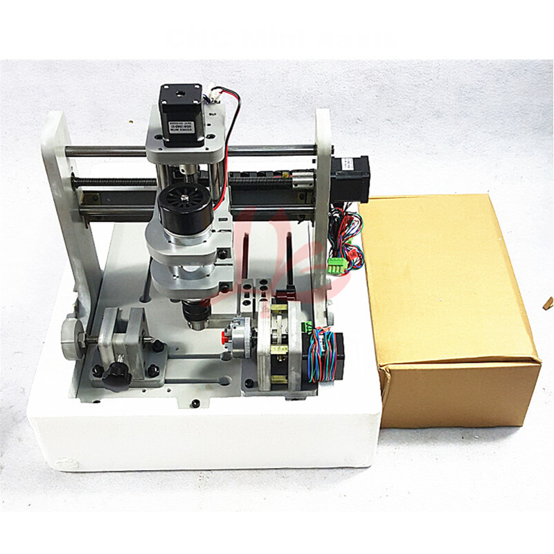 Free tax to EU! DIY Mini 4 axis CNC Engraving Drilling and Milling Machine with 300W  DC spindle eur free tax cnc 6040z frame of engraving and milling machine for diy cnc router