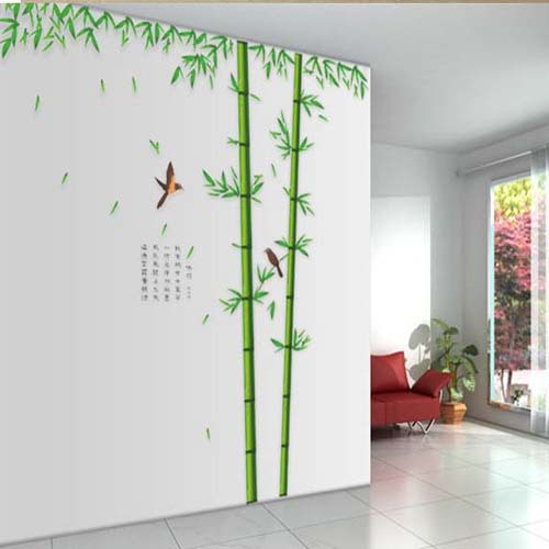 Hot sell 1 pieces removable wall sticker bamboo decor for Decor 2 sell