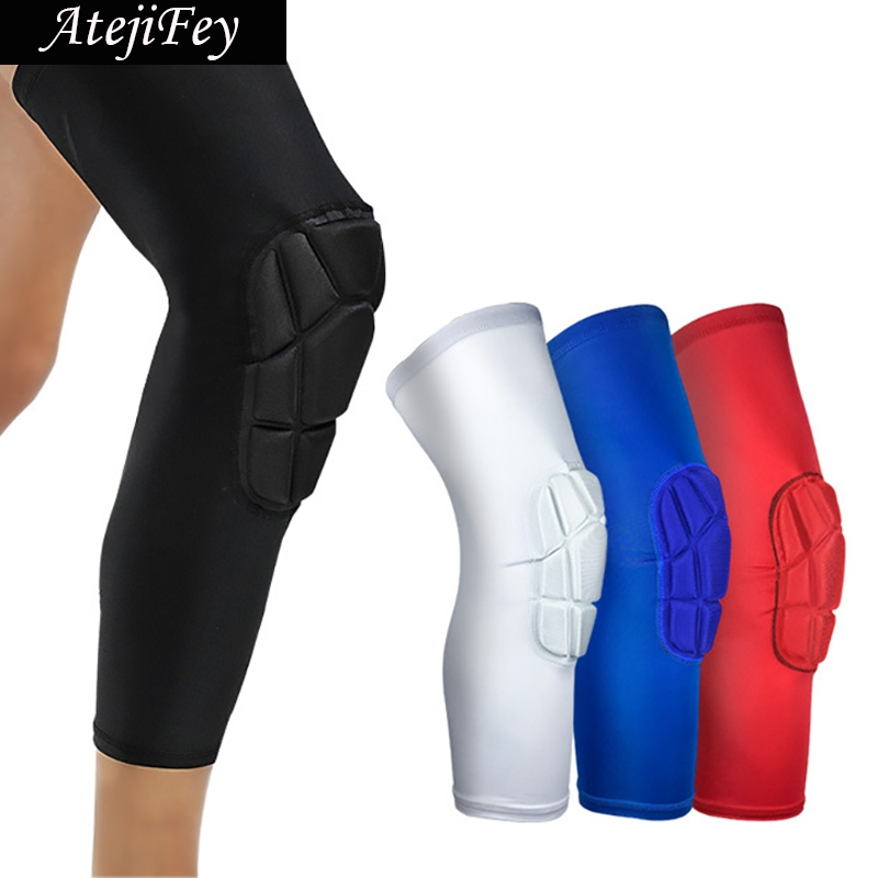 AipBunny 2pcs Professional Honeycomb Knee Pads Crashproof Sport Safety Cycling Basketball Leg Sleeve Gym Legging Protective Gear