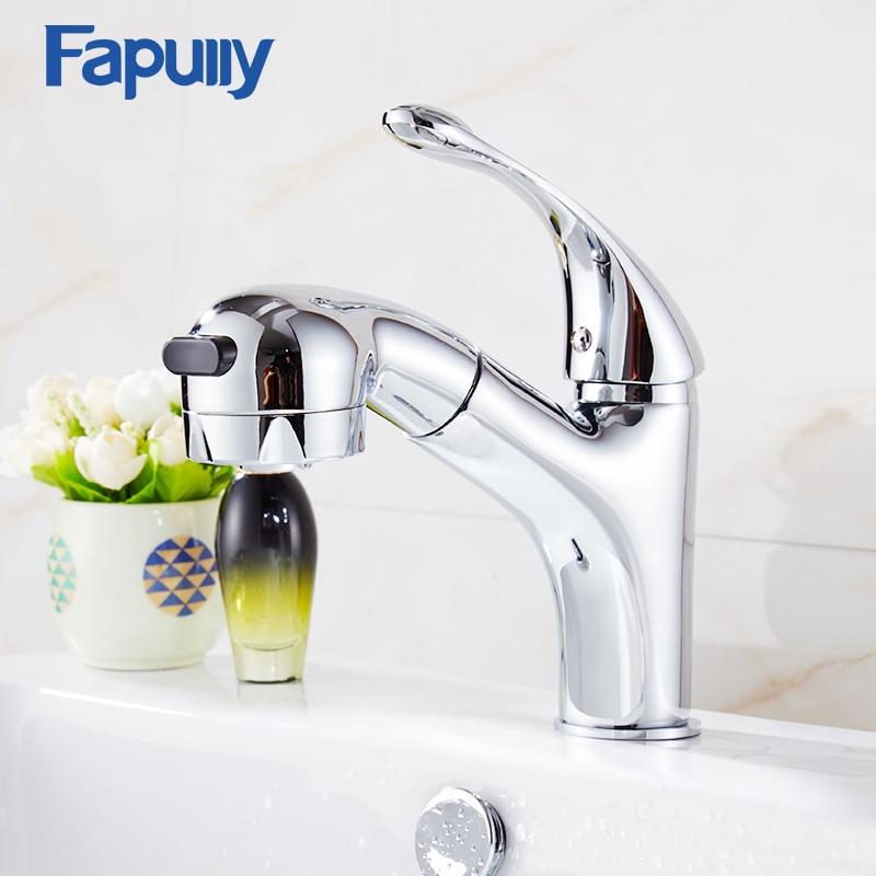 Fapully Brass Single Handle Bathroom Basin Faucet