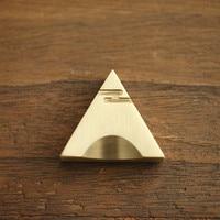 Brass Corner High Quality Chopsticks Stand Paperweight Decorative 4cm