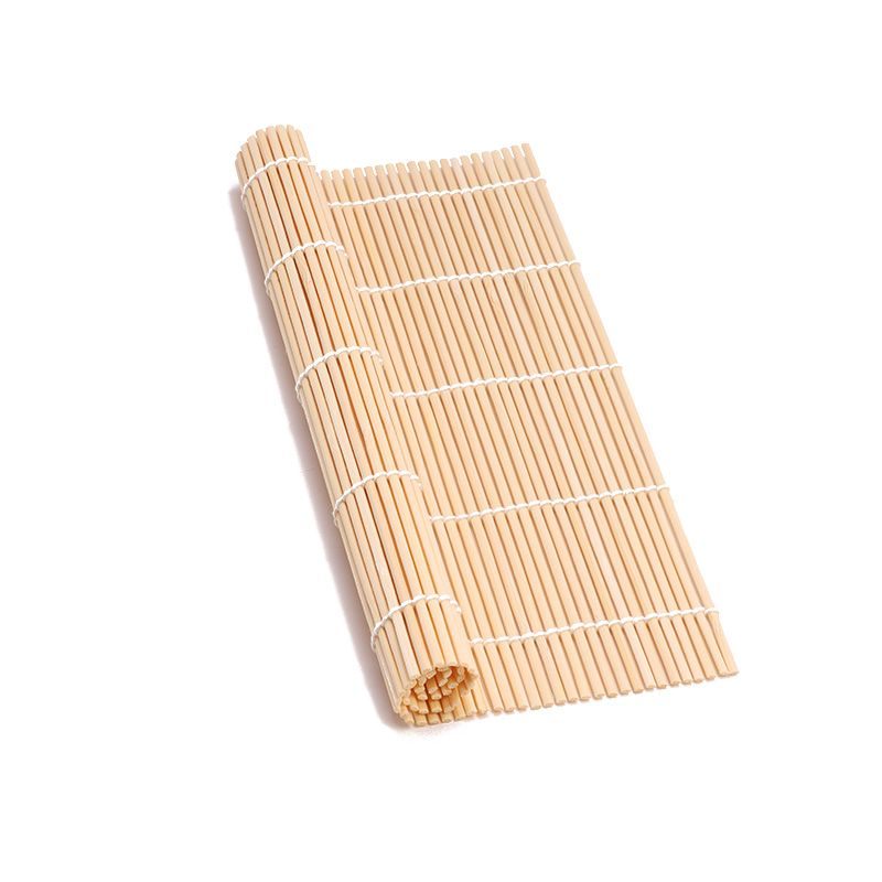 23*23cm Bamboo For Roll Sushi Curtain Making Seaweed Rolls Rice Bowl Lunch Accessories Sushi Rocket Tube Household Items image