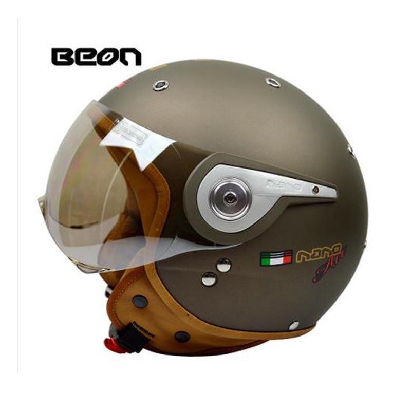 Nuevo vintage Beon motocicleta casco vespa casco capacete cara abierta capacetes motociclistas