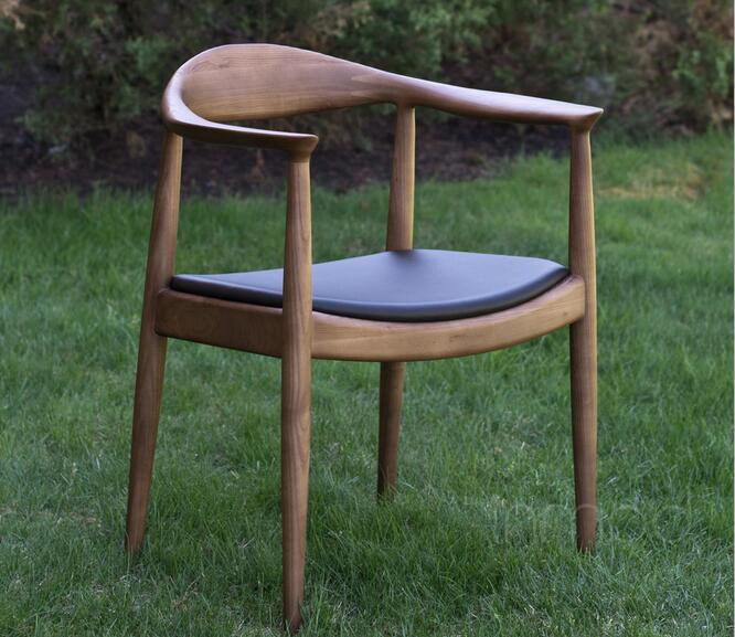 Высококачественные однотонные деревянные гостиничные стулья, панельные стулья, кресло VIP President - Цвет: walnut color
