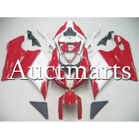 Красный, белый Высокое качество вставками за 2007 2012 Ducati 1098 848 1198 ABS впрыска мотоциклов Обтекатели новый корпус кузов охватывает