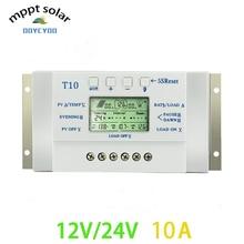 OOYCYOO Solar Charge control ler 10A 12 V 24 V для макс. 48 V вход с двойным зарядным солнечным управлением ler таймером для уличного освещения
