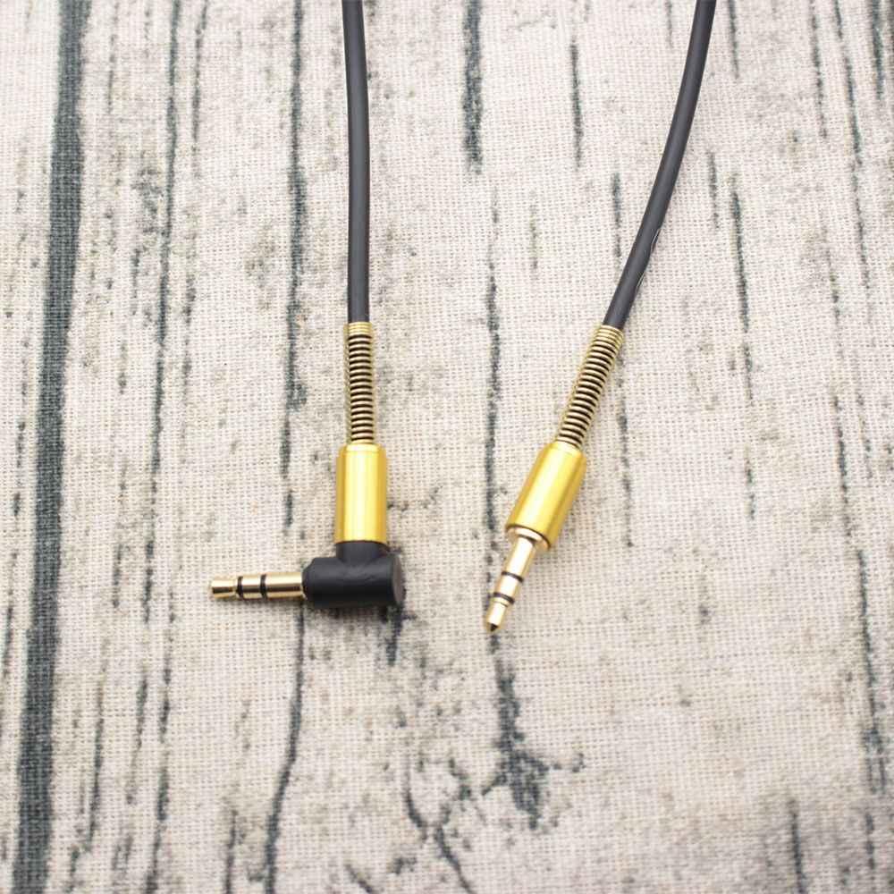 1 м x 3,5 мм разъем аудио кабель штекер 90 градусов правый угол Aux адаптер цифровые кабели наушники расширенные кабели