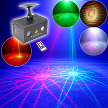 Mini 8 Patterns Led Stage Laser Projector Water Galaxy Full Color RGB DJ Disco Club Party Stage Lighting Effect